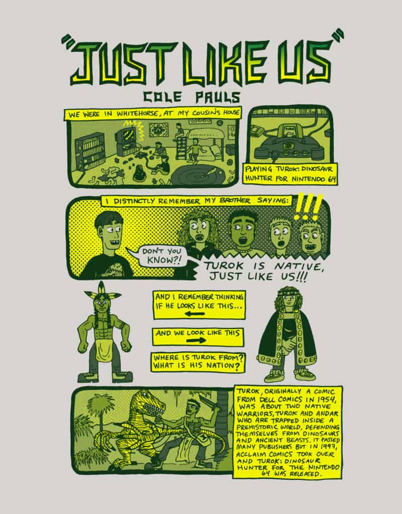 "Page 1 of Cole Pauls' ""Just Like Us"" comic."