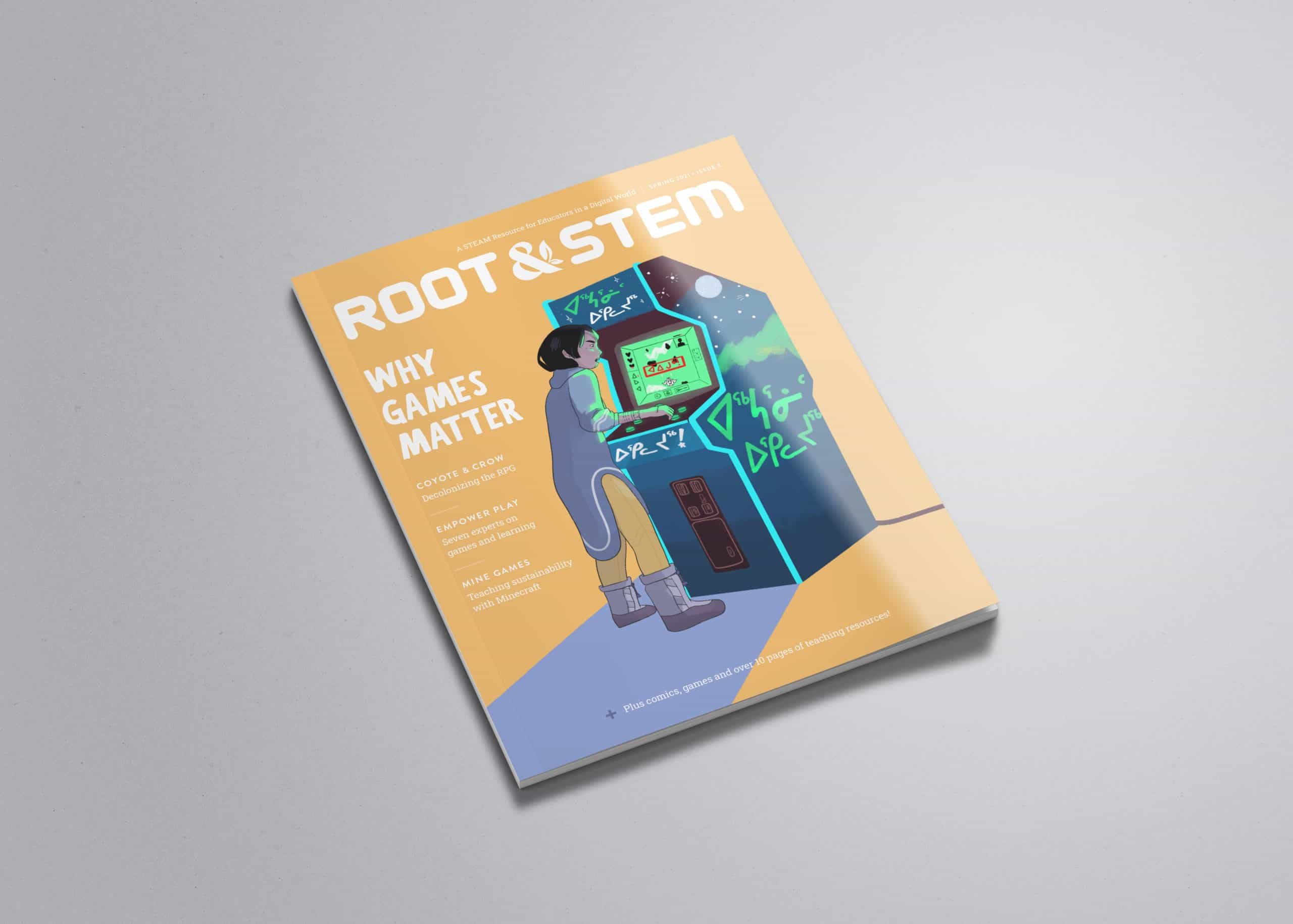 A print copy of the third issue of the Root & Stem magazine.