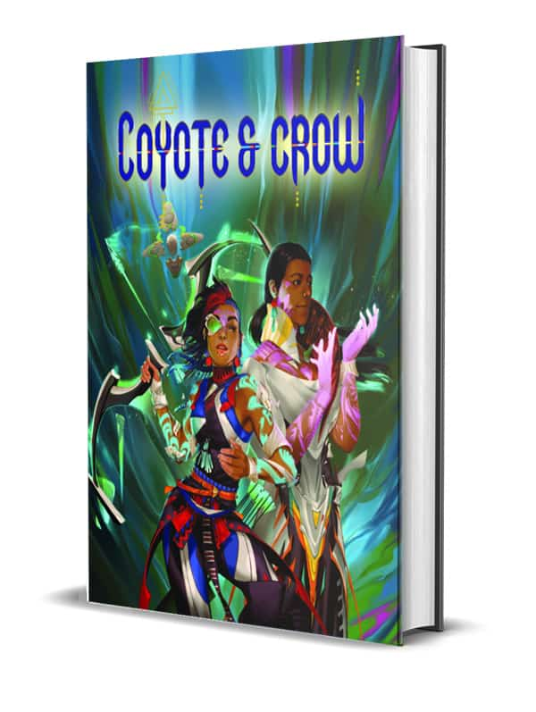 The Coyote & Crow book mockup.