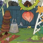 Part of the artwork from the imagining worlds and characters activity.