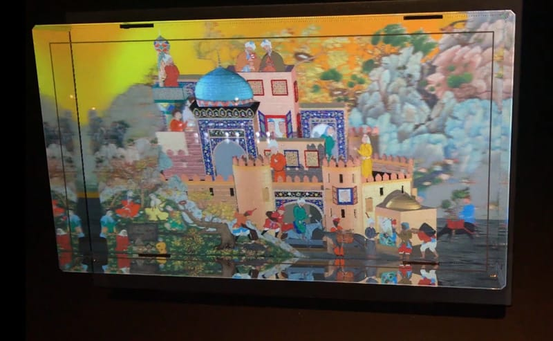 A still from the Remastered exhibition at the Aga Khan Museum in Toronto
