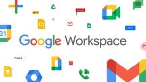 Google Workspace logo displayed with various logos.