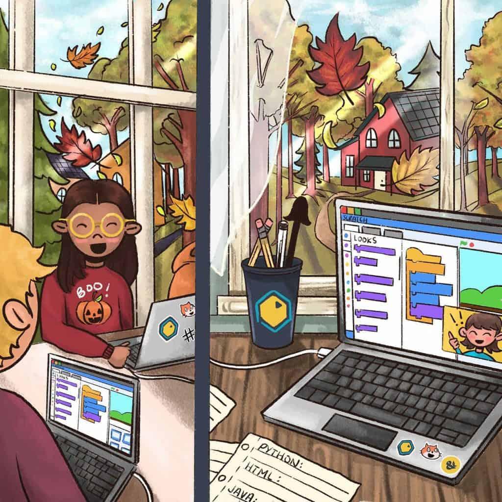 Alyssa Amell's art work for fall programing.